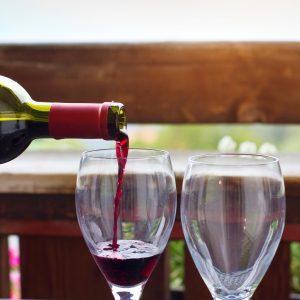 wine in the restaurant